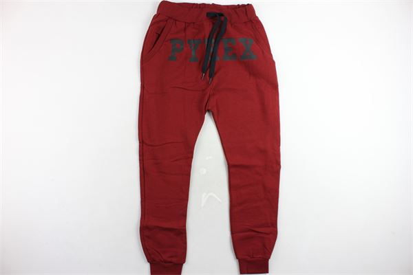 pantalone tuta felpato tinta unita con stampa PYREX | Pantaloni | PANTALONIPYREX5BORDEAU