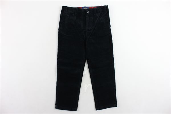 pantalone in velluto a costine girovita regolabile RALPH LAUREN | Pantaloni | 312760381001NERO