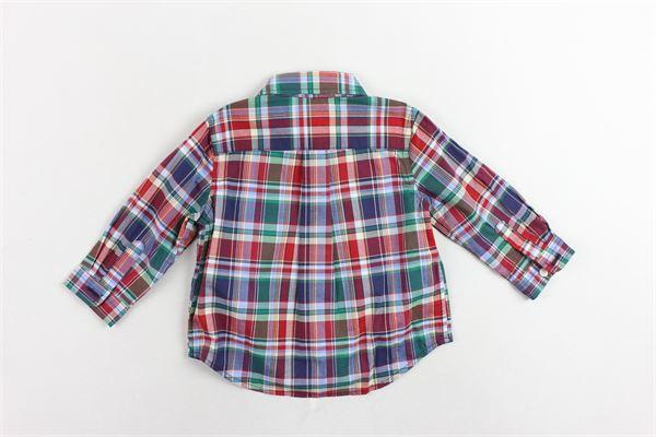 camicia in cotone fantasia a quadri RALPH LAUREN | Camicie | 320702882003VERDE