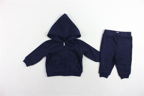completo tuta felpa con zip più pantalone RALPH LAUREN | Completi | 320719705002BLU