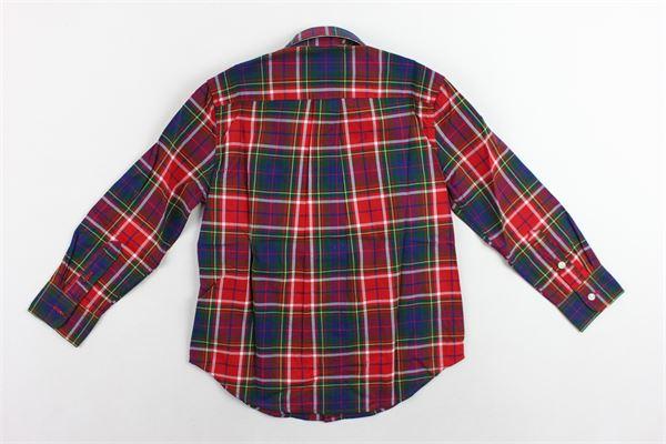 camicia manica lunga fantasia a quadri RALPH LAUREN | Camicie | 321760798003ROSSO
