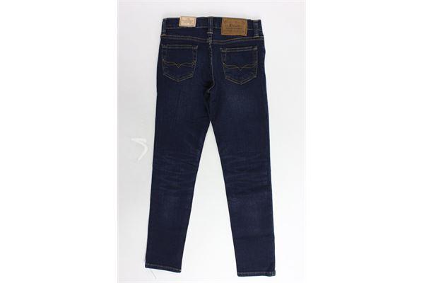 jeans tinta unita 5 tasche RALPH LAUREN | Jeans | 322691084001BLU