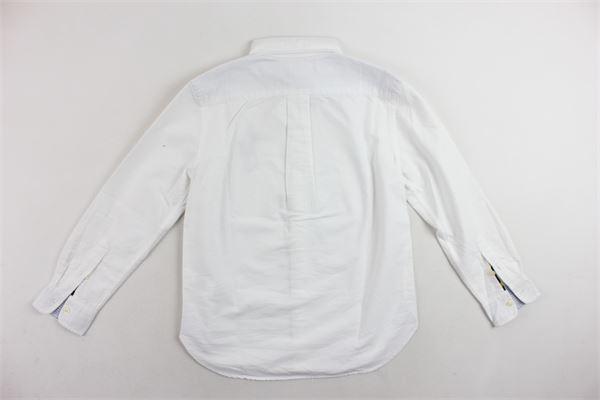 camicia tinta unita in cotone con logo RALPH LAUREN | Camicie | 323690055001BIANCO
