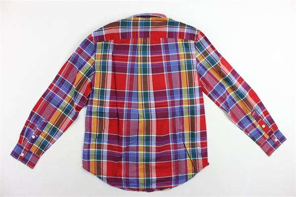 camicia manica lunga fantasia a quadri RALPH LAUREN | Camicie | 323750000004ROSSO