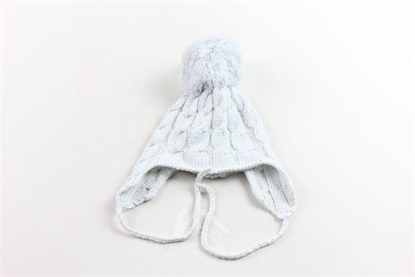 cappello in lana con pon pon REGINA BY ANGELA MAFFEI | Cappelli | 330CCELESTE