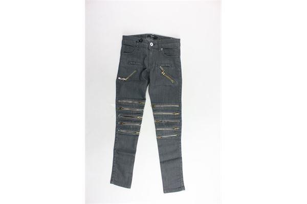 jeans tinta unita con zip RELISH | Jeans | RGA507016016GRIGIO