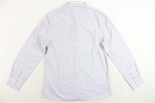 camicia manica lunga con microfantasia RONNIE KAY | Camicia | CAMICIERONNIEKAY1BIANCO