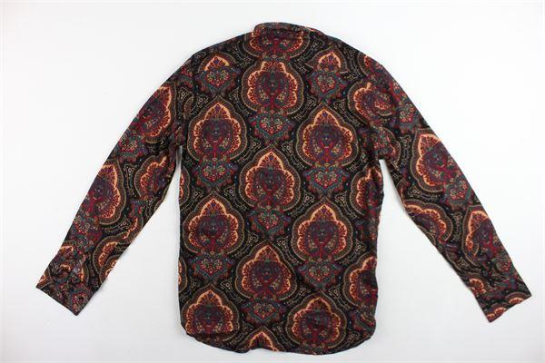 camicia manica lunga stampa fantasia SARTORIA MIGLIACCIO | Camicie | CAMICIESARTORIAMIGLIACCIO1BORDEAU