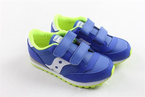 sneakers bassa con strappi profili in contrasto SAUCONY | Scarpe | SK261592BLU