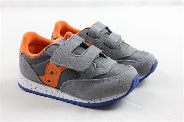 sneakers bassa con strappi tinta unita profili in contrasto SAUCONY | Scarpe | SL261607GRIGIO
