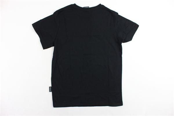 t-shirt mezza manica tinta unita con stampa SCEIK DAVID | T-shirts | TB01BISNERO