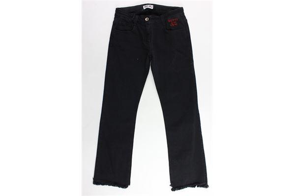 jeans 5 tasche tinta unita a zampa SHOPART | Jeans | 017873NERO