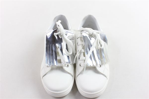 sneakers basse allacciata tinta unita SHOPART | Scarpe | 6072BIANCO