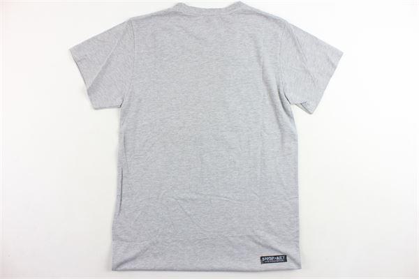 t-shirt mezza manica modello lungo oversize con stampa SHOPART | T-shirts | T-SHIRTSHOPART1GRIGIO