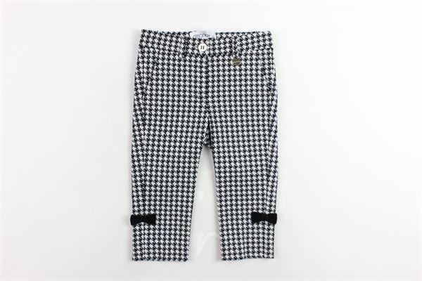 pantalone tasca america microfantasia girovita regolabile SIMONETTA | Pantaloni | 1J6051JB950100NENERO