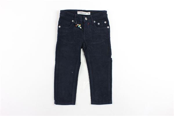 pantalone 5 tasche in velluto tinta unita SIVIGLIA | Pantaloni | S-029-P031B-10143A-029BLU