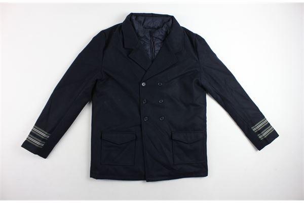 cappotto tinta unita con smanicato removibile SP1 | Giubbini | CAPPOTTOSP1BLU