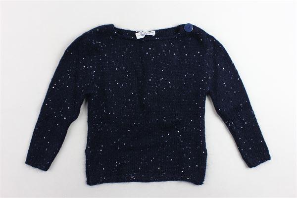 maglione tinta unita con paillettes SPECIAL DAY | Maglie | 2M055BLU