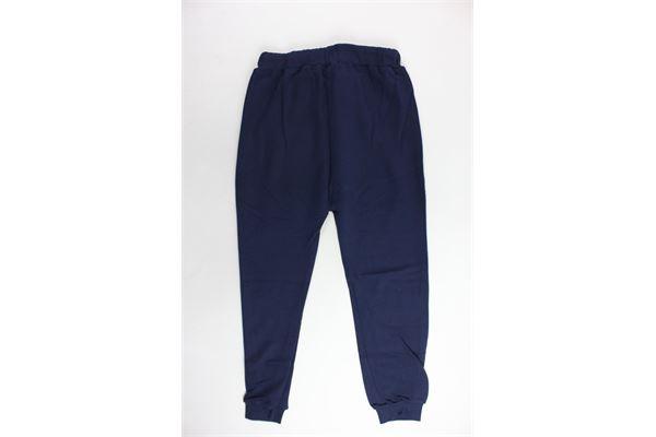 pantalone tuta felpato tinta unita con stampa STARTER | Pantaloni | PFST8301JBLU