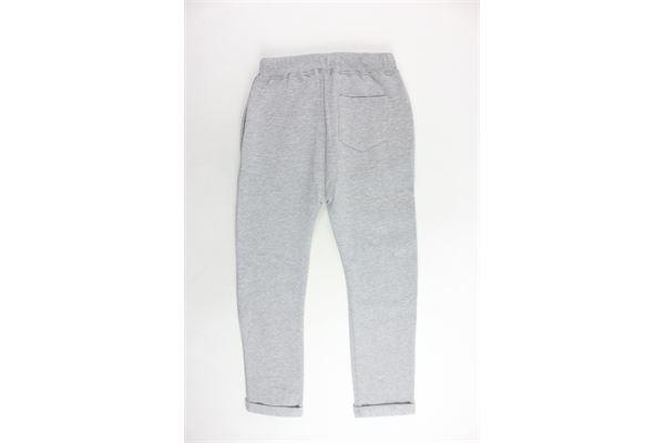 pantalone tuta felpato tinta unita con stampa STARTER | Pantaloni | PFST8302JGRIGIO