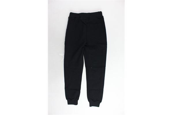 pantalone tuta felpato tinta unita bande loggate STARTER | Pantaloni | PFST9306JNERO
