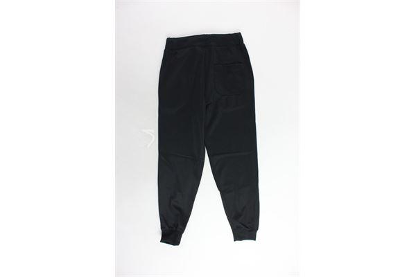 pantalone triacetato tinta unita con stampa STARTER | Pantaloni | PFST9307JNERO