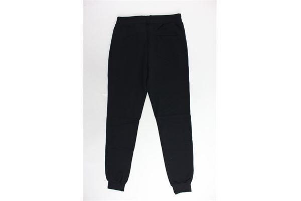 pantalone tuta felpato tinta unita con stampa STARTER | Pantaloni | PFST9308JNERO