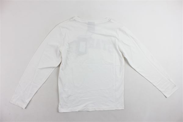 shirt manica lunga tinta unita con stampa STARTER | Shirts | TSST8303/2BIANCO
