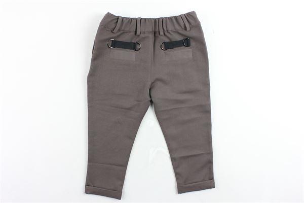pantalone tinta unita elastico in vita tasca a filo STAY STREET | Pantaloni | PB805MARRONE