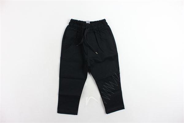 pantalone tasca a filo tinta unita elastico in vita STAY STREET | Pantaloni | PB806NERO