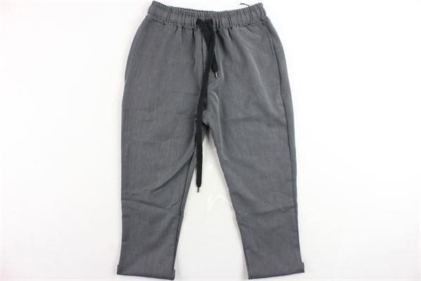 pantalone tinta unita elastico in vita tasca america STAY STREET | Pantaloni | PB804GRIGIO