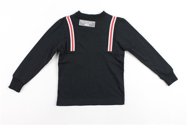 shirt manica lunga tinta unita con profili in contrasto STAY STREET | Shirts | TB800NERO
