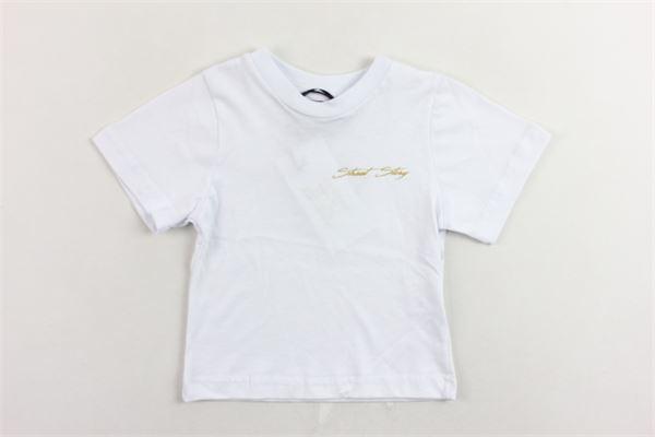 t-shirt mezza manica tinta unita con stampa bottoni alla spalla STAY STREET | T-shirts | TN902BIANCO