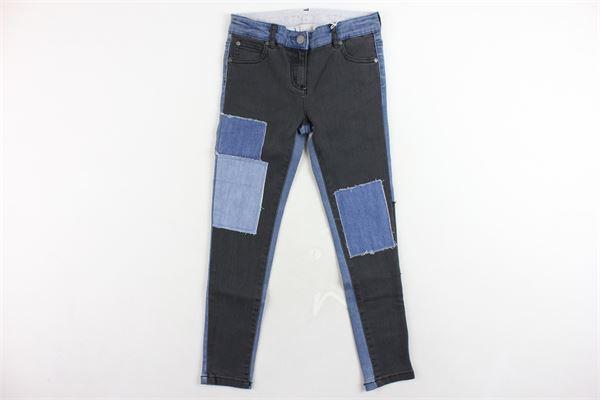 jeans 5 tasche tinta unita con finte toppe girovita regolabile STELLA McCARTNEY | Jeans | 471600SJK561074BLU