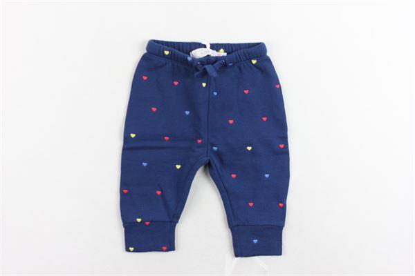 pantalone tuta felpato tinta unita con stampa STELLA McCARTNEY | Pantaloni | 519520SLJ374099BLU