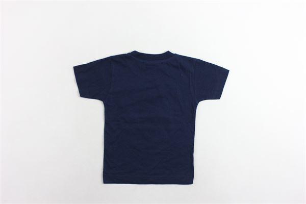 t-shirt mezza manica tinta unita con stampa T-SHIRT T-SHOPS | T-shirts | T-SHIRTT-SHOP10BLU