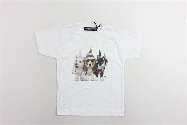 t-shirt mezza manica tinta unita con stampa T-SHIRT T-SHOPS | T-shirts | T-SHIRTT-SHOP3BIANCO