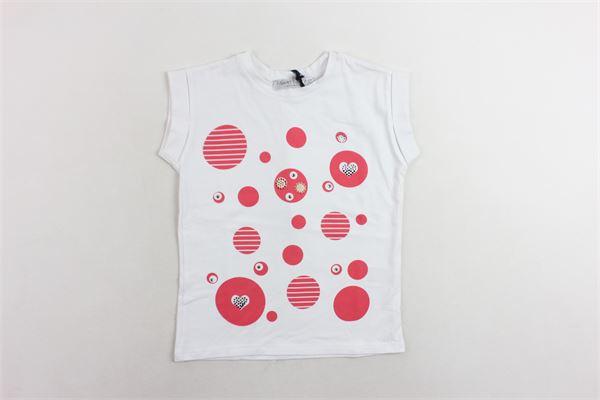 t-shirt mezza manica tinta unita con stampa T-SHIRT T-SHOPS | T-shirts | T-SHIRTT-SHOP7BIANCO