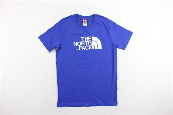 t-shirt mezza manica tinta unita con stampa THE NORTH FACE | T-shirts | T0A3P7CZ6COBALTO