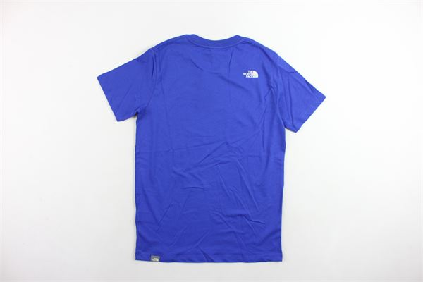 t-shirt mezza manica tinta unita con stampa THE NORTH FACE | T-shirts | T0A3P7CZ6COBALTO