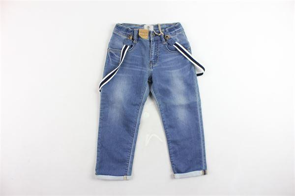 jeans 5 tasche tinta unita con bretelle TIMBERLAND | Jeans | T04883Z74AZZURRO