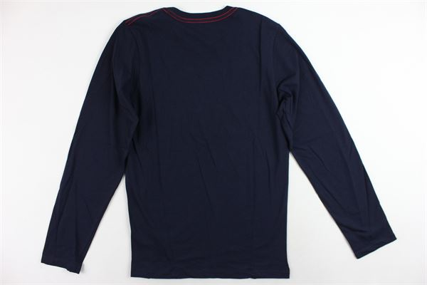 shirt manica lunga tinta unita con stampa DIESEL | Shirts | 00J3Z1-00Y19-K860BLU