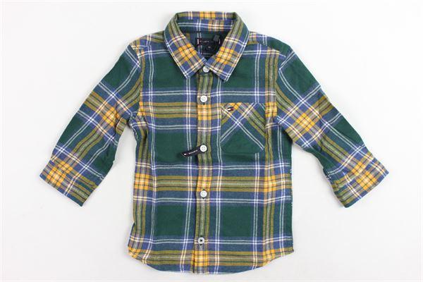 camicia cotone caldo fantasia a quadri TOMMY HILFIGER | Camicie | KB0KB0429I395VERDE