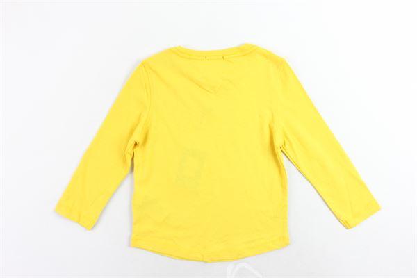 shirt in cotone tinta unita con stampa TOMMY HILFIGER | Shirts | KB0KB04432716GIALLO