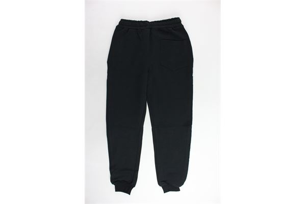 pantalone tuta garzato tinta unita profili in contrasto TRACK | Pantaloni | PANTALONITRACK1NERO