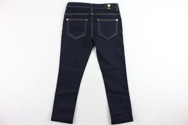 jeans 5 tasche tinta unita VERSACE | Jeans | YVFPA168BLU