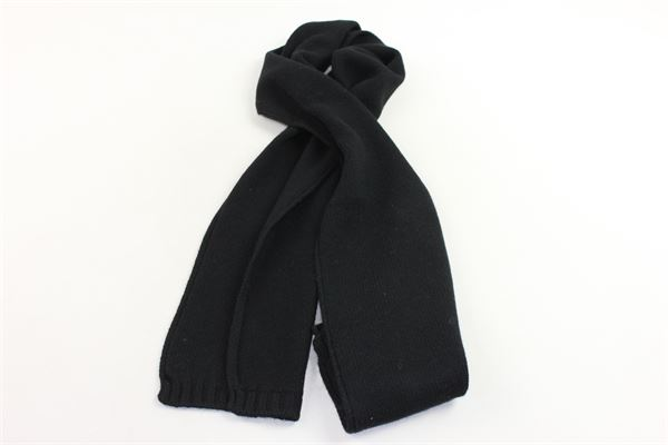 sciarpa in lana tinta unita VIA ELISA | Sciarpe | SCIARPEVIAELISA1NERO