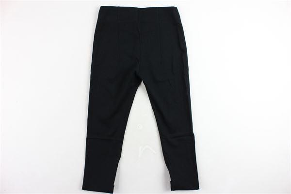 pantalone tinta unita con zip VICOLO | Pantaloni | 3141P0024NERO
