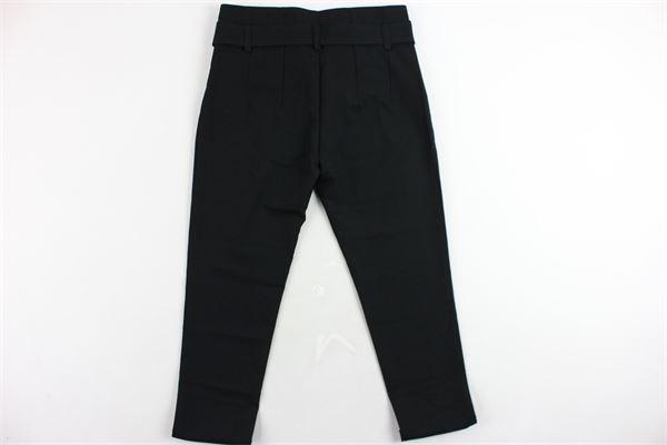 pantalone vita alta tinta unita con cintura VICOLO | Pantaloni | 3141P0025NERO