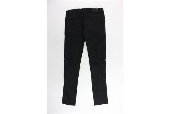 jeans 5 tasche tinta unita con strappi VICTORIA & STELLA | Jeans | JEANSVICTORIAESTELLA1NERO